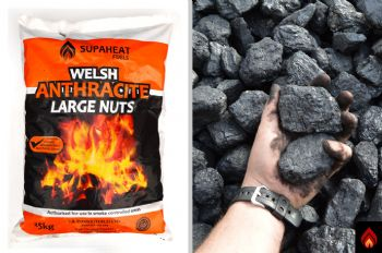 Welsh Anthracite Large Nuts - 1 tonne (black diamond)